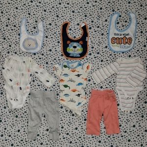 cool and warm colored set for newborn/0-3 mont